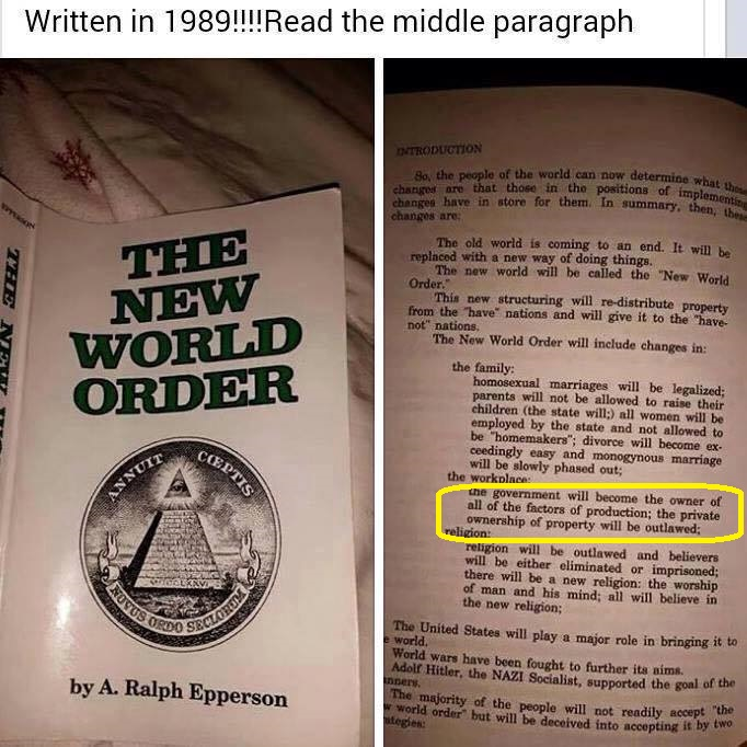 New world order book predict homosexual marriages legal